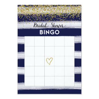 Tarjeta nupcial del oro y del bingo de la ducha de invitación 12,7 x 17,8 cm