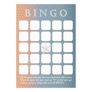 Tarjeta nupcial elegante del bingo de la ducha de tarjetas de visita grandes