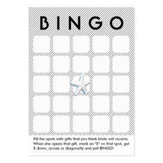 Tarjeta nupcial moderna del bingo de la ducha de tarjetas de visita grandes