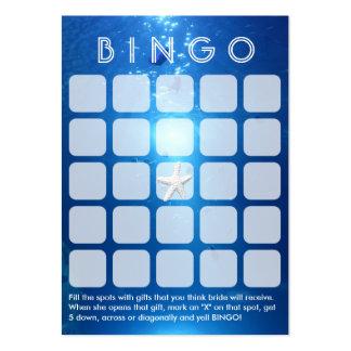 Tarjeta nupcial temática del bingo 5x5 del mar del plantilla de tarjeta personal