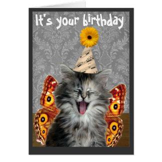 Tarjeta o invitación divertida de cumpleaños del