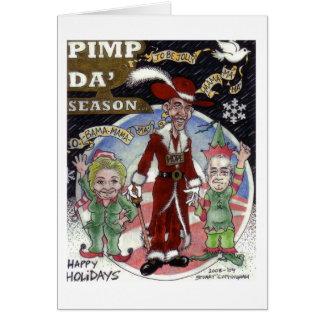 Tarjeta Obama Santa