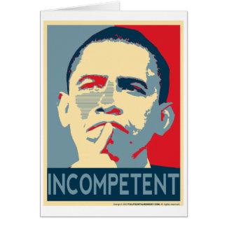 Tarjeta Obama - si al principio usted no tenga éxito…