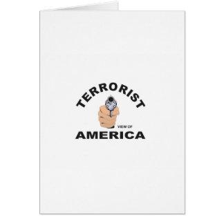 Tarjeta objetivos de los E.E.U.U. para matar al terrorista