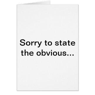 Tarjeta obvia, edición de la tarjeta de