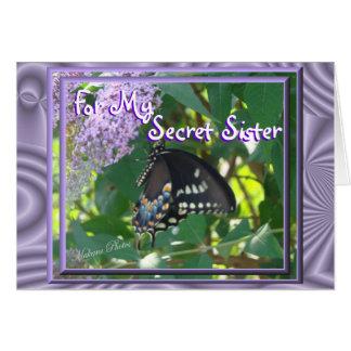 Tarjeta Ocasión secreta de la hermana de la