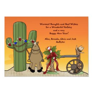 Tarjeta occidental del día de fiesta de la escena invitación 12,7 x 17,8 cm