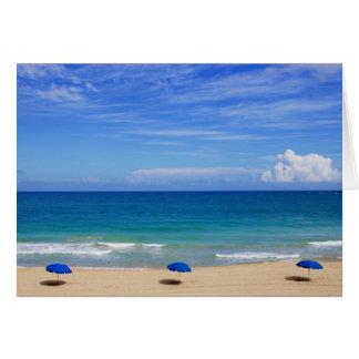 Tarjeta Océano del parasol de playa