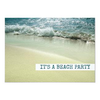 Tarjeta Océano, ondas apacibles de la línea de la playa de