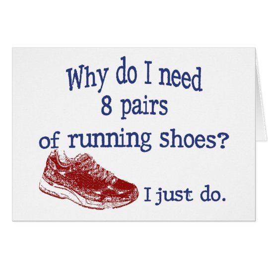 Tarjeta Ocho zapatillas deportivas de los pares