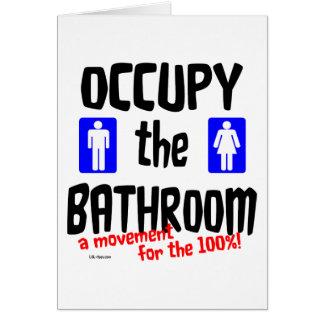 Tarjeta Ocupe el cuarto de baño