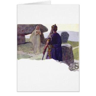 Tarjeta Odin delante de un Völva