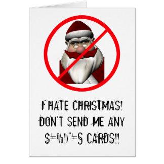 Tarjeta Odio navidad