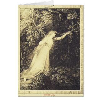 Tarjeta Ofelia de Hamlet