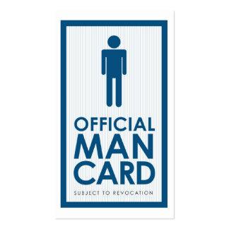 Tarjeta oficial del hombre tarjetas de visita