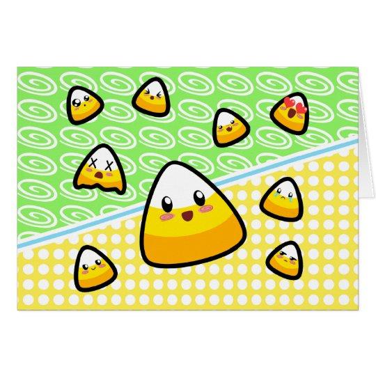 Tarjeta ¡Oh mi calidad! ¡Pastillas de caramelo de Kawaii!