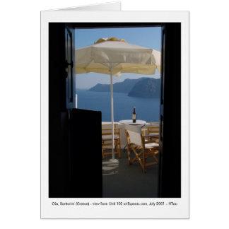 Tarjeta Oia, Santorini (Grecia) -