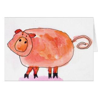 Tarjeta ¡Oink! • Kaderabek máximo, edad 8