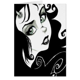 Tarjeta Ojos del demonio