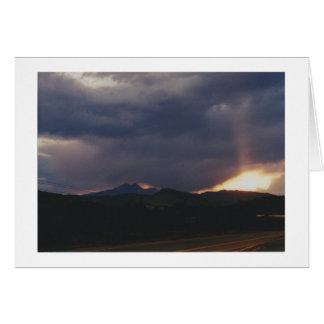 Tarjeta Ojos en el cielo sobre Boulder