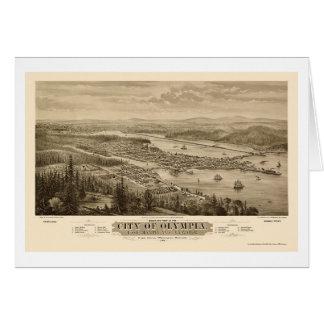 Tarjeta Olympia, mapa panorámico de WA - 1879