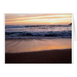 Tarjeta Onda de la puesta del sol