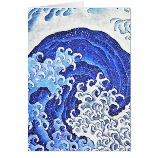 Tarjeta Onda femenina por Hokusai