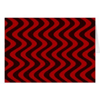 Tarjeta Ondas temblorosas (negro/rojo)