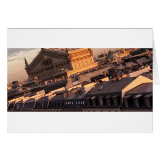 Tarjeta Ópera Garnier, París, Francia