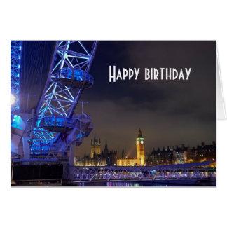 Tarjeta Opinión BRITÁNICA del ojo de Londres del paisaje