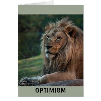 Tarjeta Optimismo
