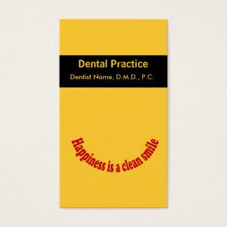 Tarjeta oral de la cita del cuidado del dentista