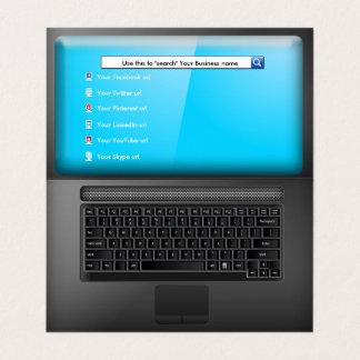 Tarjeta Ordenador portátil con la pantalla y los iconos