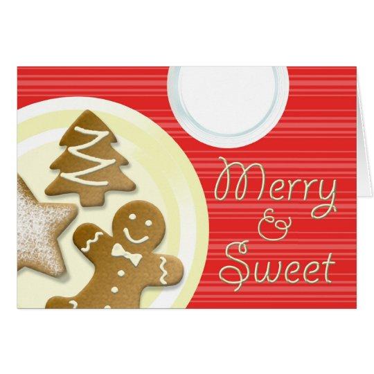 Tarjeta Ordeñe las galletas felices y el día de fiesta