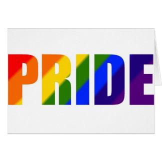 Tarjeta orgullo del arco iris