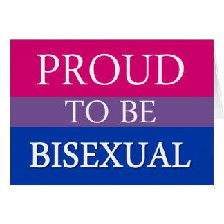 Tarjeta Orgulloso ser bisexual
