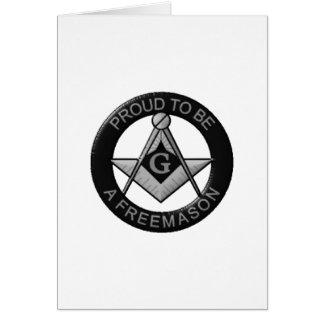 Tarjeta Orgulloso ser un Freemason