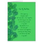 Tarjeta original de la poesía de Brother del feliz