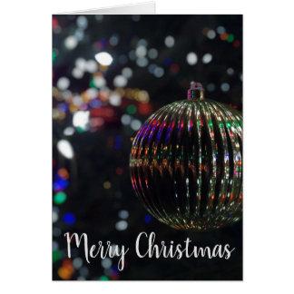 Tarjeta Ornamento de plata del navidad