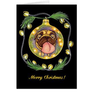 Tarjeta ornamento del navidad del barro amasado
