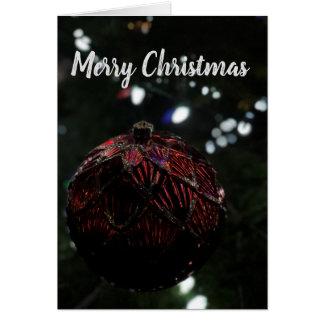 Tarjeta Ornamento del rojo del navidad