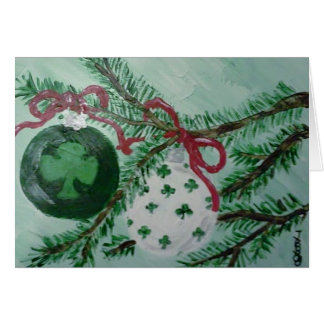 Tarjeta Ornamentos irlandeses del navidad