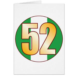 Tarjeta Oro de 52 NIGERIA