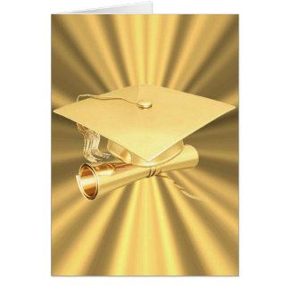 Tarjeta-Oro de la graduación Tarjeta De Felicitación
