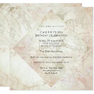 Tarjeta Oro del rosa del polvo del melocotón del brillo