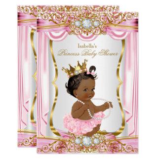 Tarjeta Oro étnico de la seda del rosa de la princesa