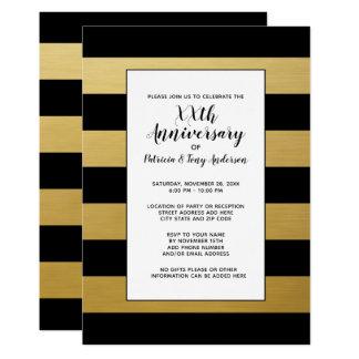 Tarjeta Oro moderno de las rayas 50.as de la fiesta de