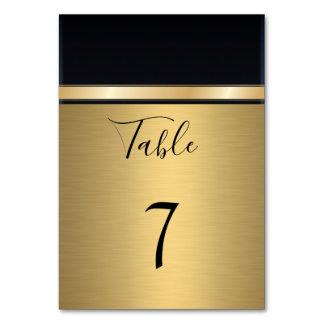 Tarjeta Oro moderno elegante/boda negro