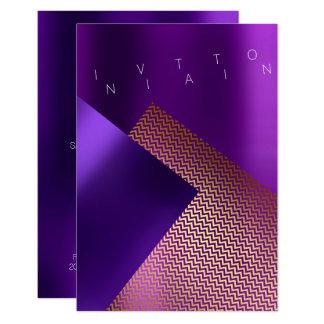 Tarjeta Oro púrpura del ciruelo del acontecimiento del