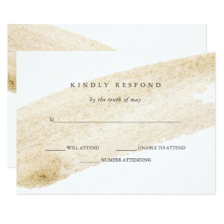 Tarjeta Oro suave minimalista del cepillo el | falso que